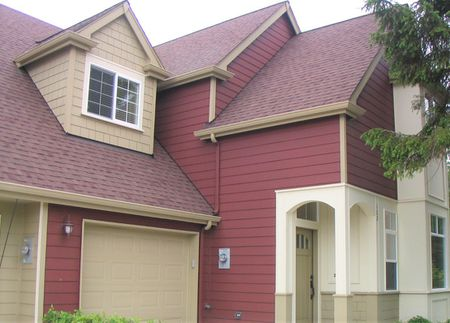 Red Seattle Area Townhome Exterior Color