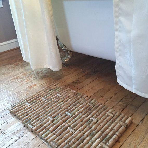 tapete de baño de corcho de vino