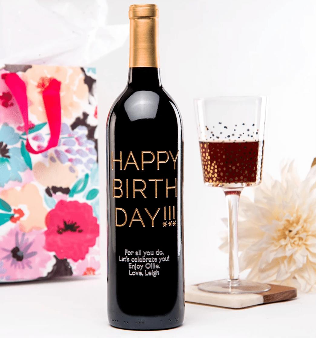 Mark & Graham Personalized Wine Bottle