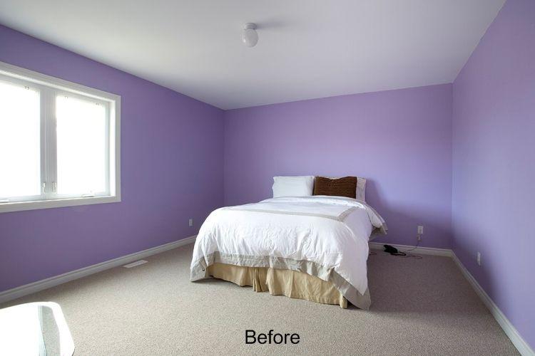 Cambio de imagen del dormitorio antes