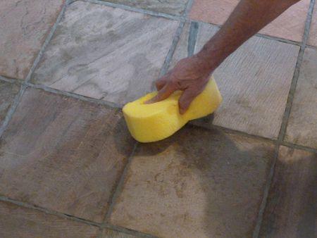 Installing Slate Tile - Sanding slate floor