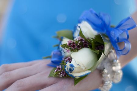Ideas for your prom flower arrangements white rose corsage mightylinksfo