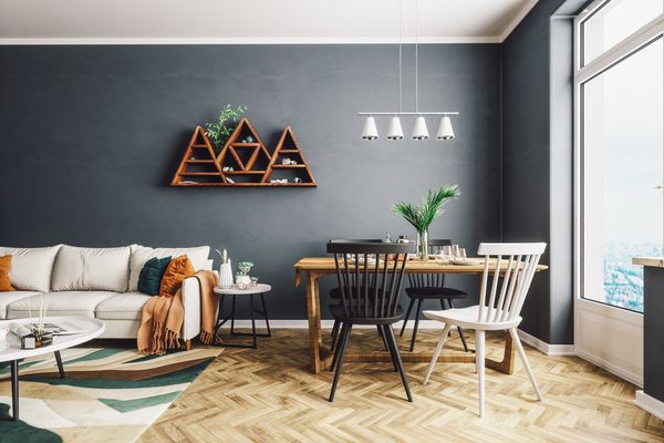 Scandinavian Style Living And Dining Room