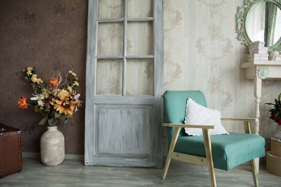 Door With Chalk Paint Finish