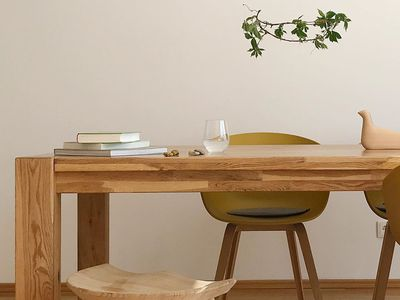 Japandi style table and chairs
