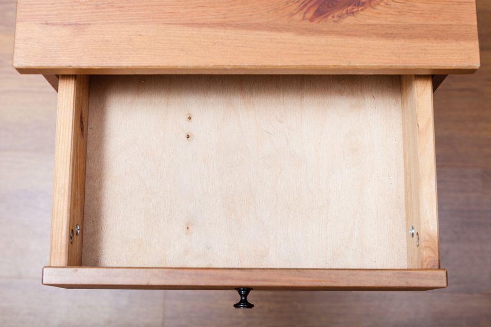 top view of empty open DIY drawer
