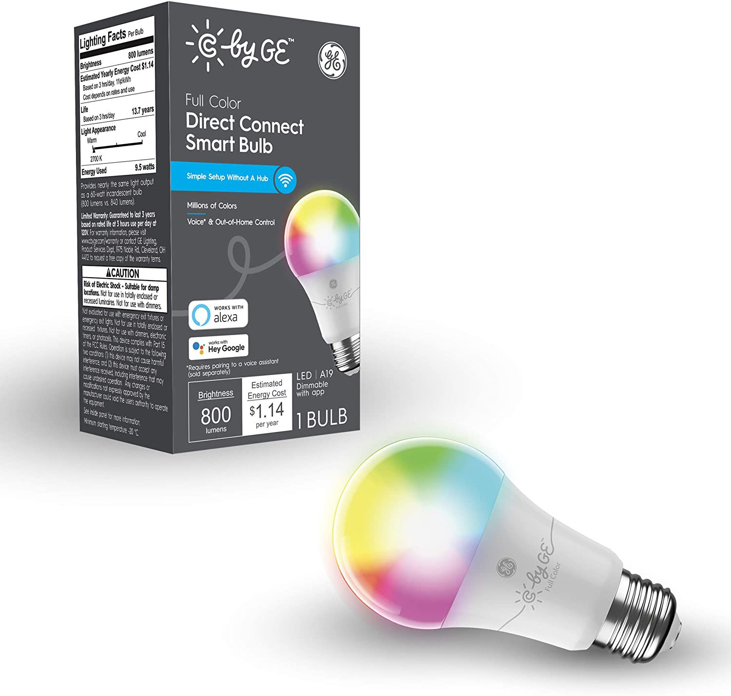Full Color Direct Connect Smart Bulb