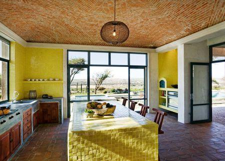 Handmade Tiles Countertop Yellow