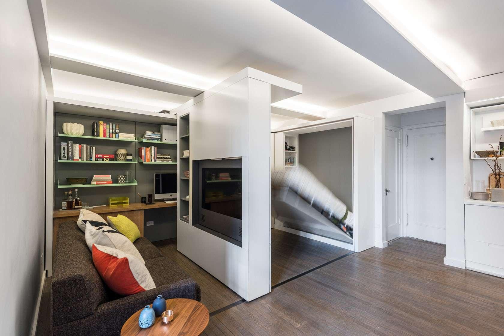 micro apartamento con transformador centro de medios