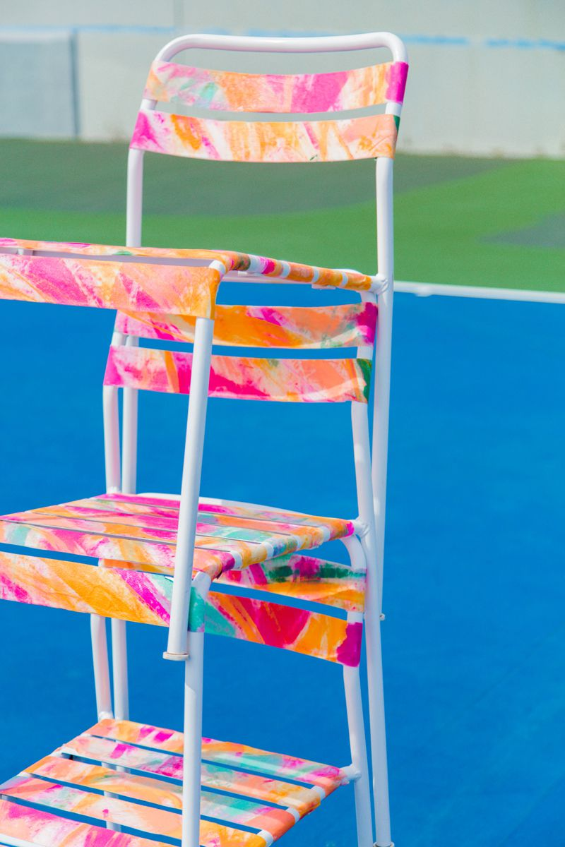 Watercolor patio chairs