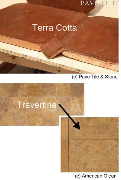 Terra Cotta and Travertine Flooring Tuscan