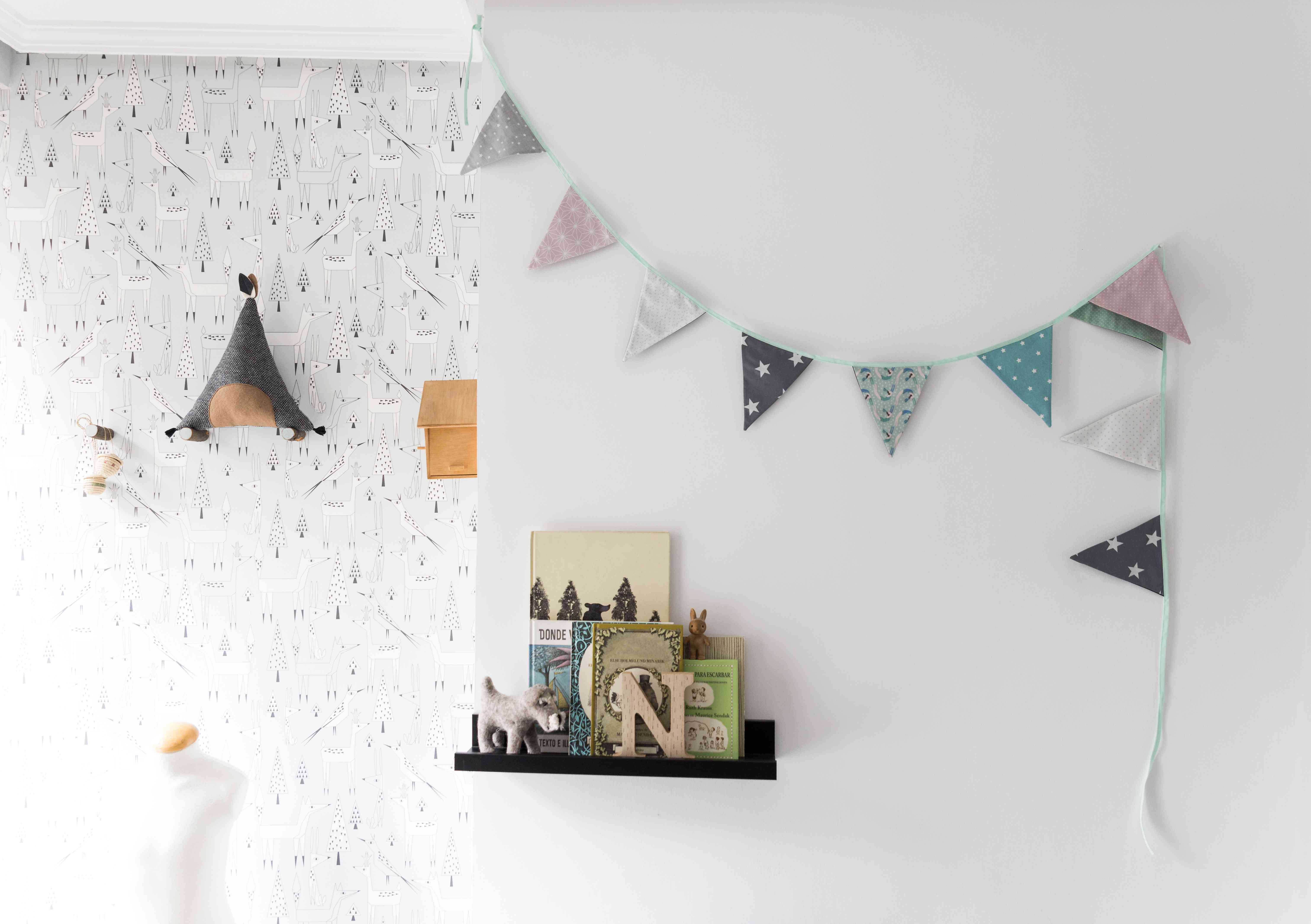 Children's Room Decorated in Nordic Style - Stock Photo