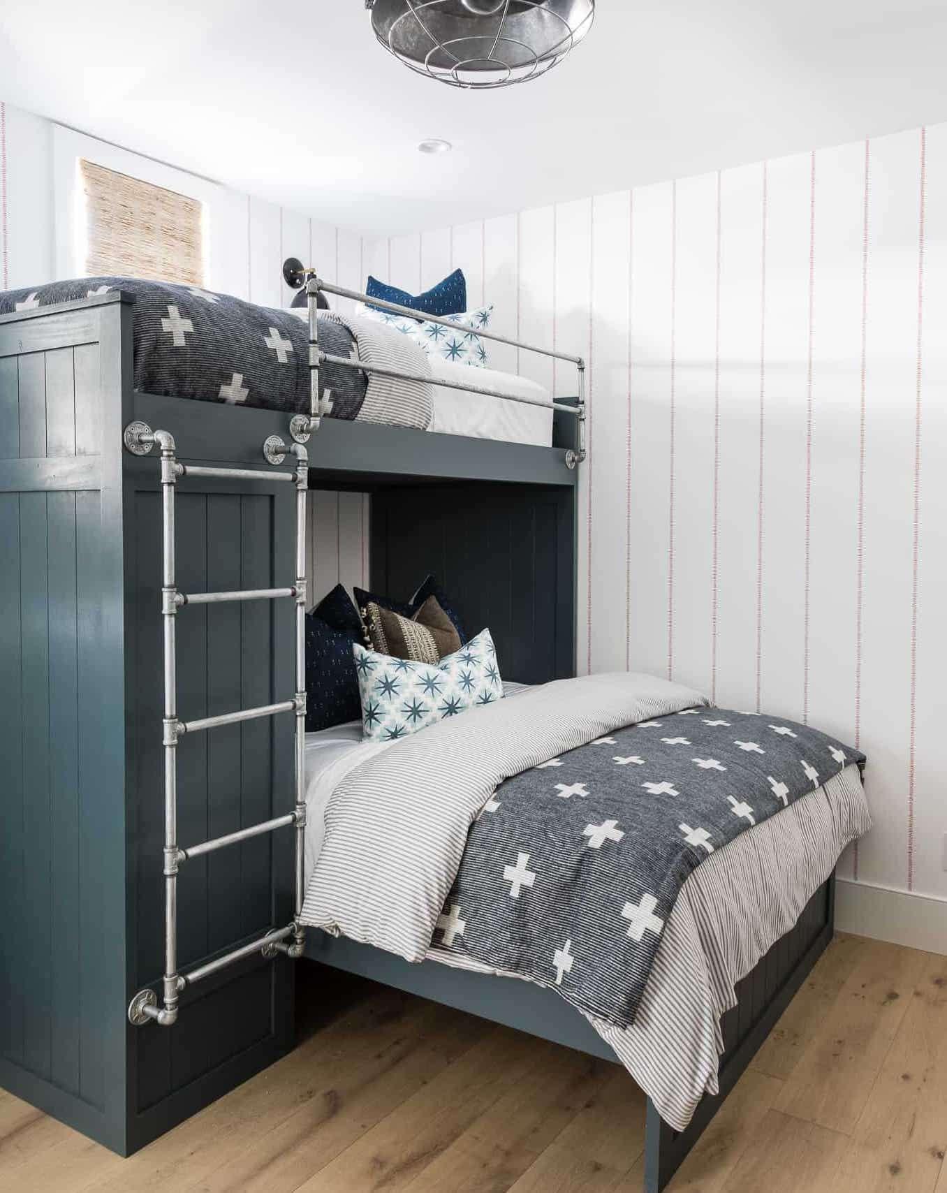 neutral color scheme bunk beds