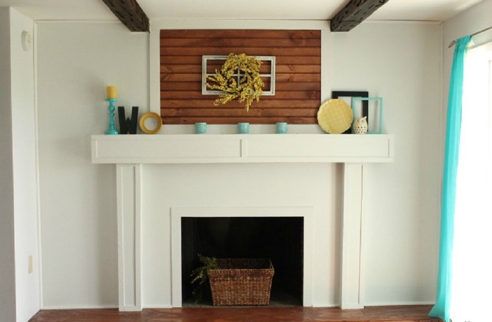After - Brick Fireplace Cover-Up