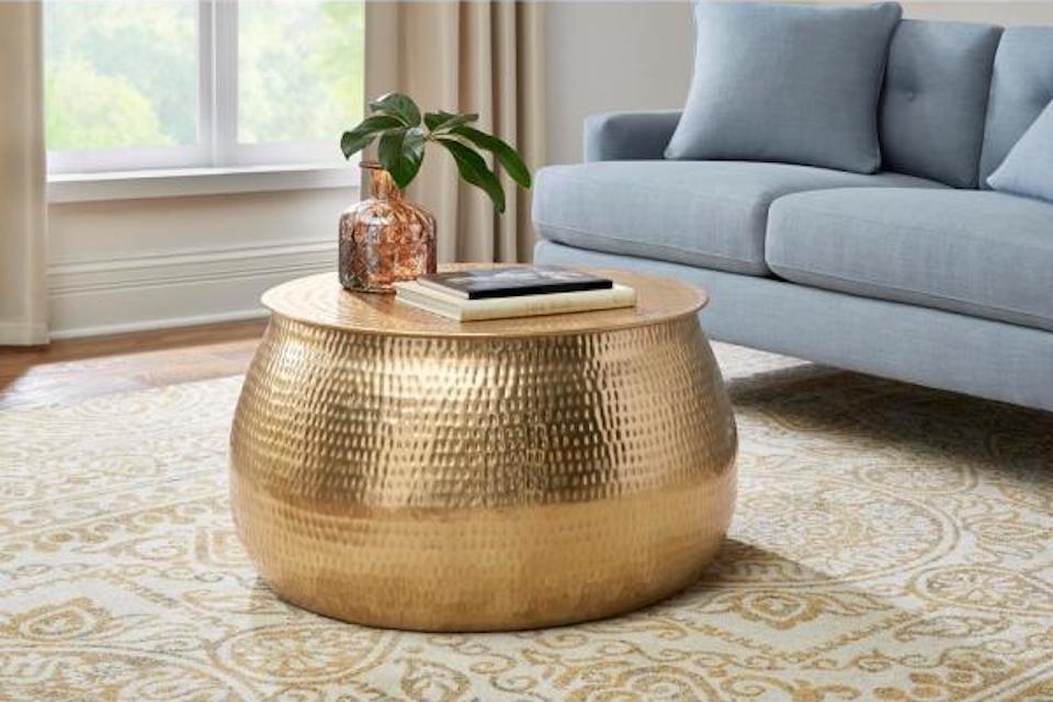 Calluna Gold Round Metal Coffee Table