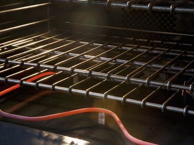 Electric oven, focusing on the heating element
