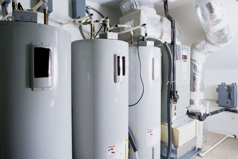 A water heater and furnace