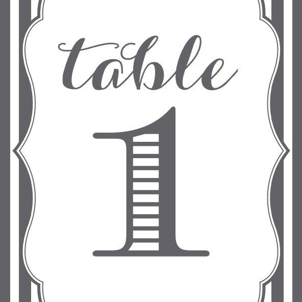 10 Sets Of Free Printable Wedding Table Numbers