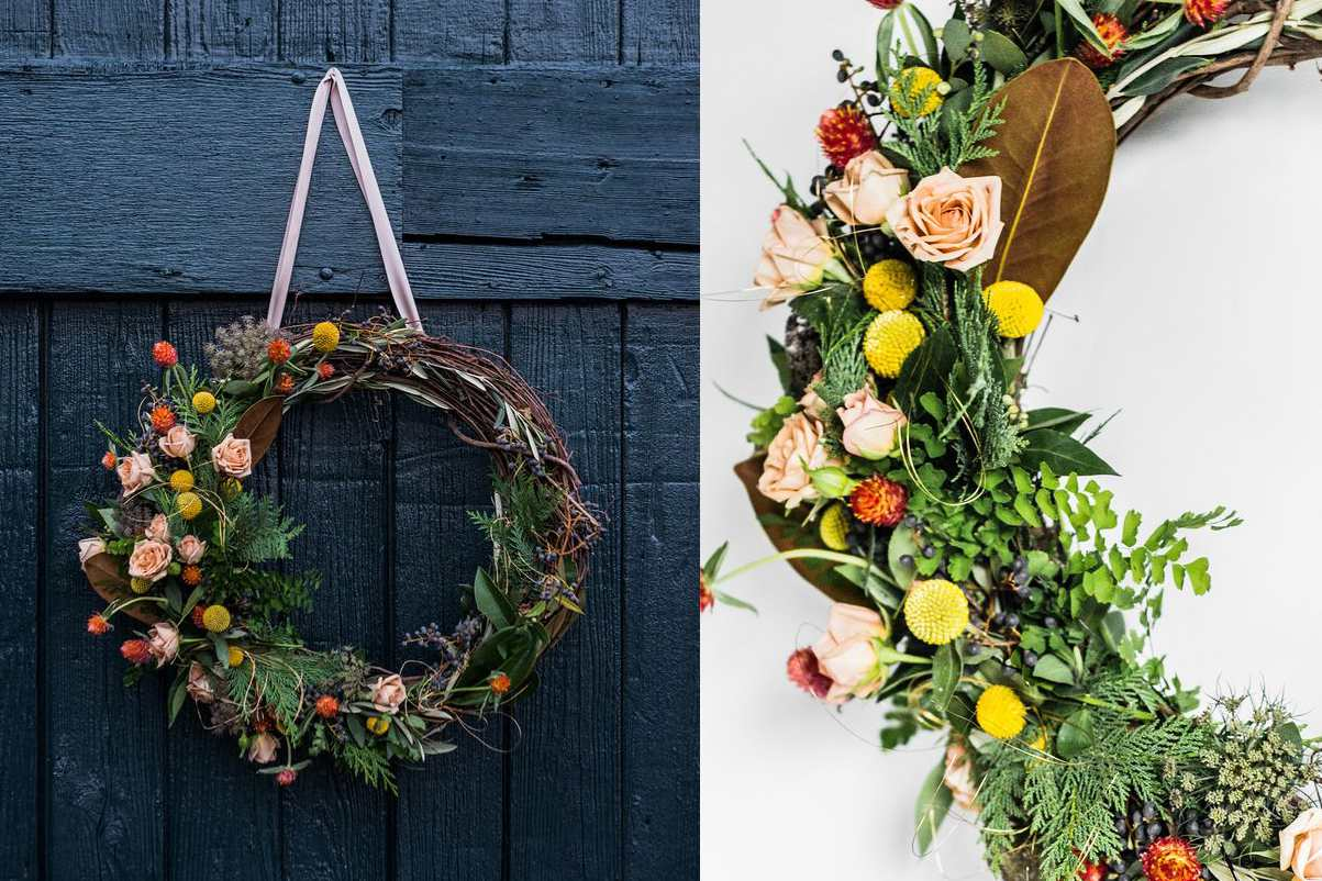 summer vintage Door wreath indoor and Outdoor Decorations Spring Country House shabby Entrance Decorations Welcome winter autumn Gift idea