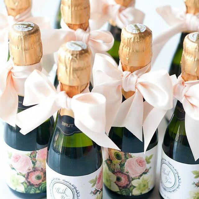 Wedding Favor Mini Bottles of Champagne