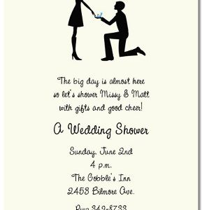Examples Of Bridal Shower Invitation Wording