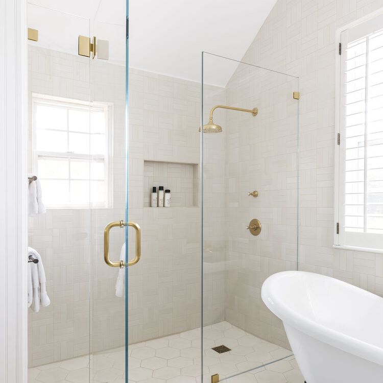 Updated modern bathroom shower