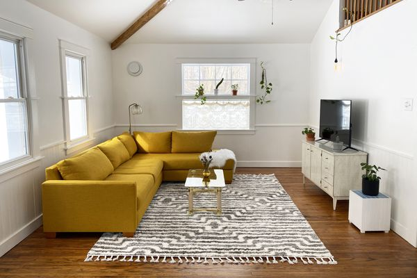 The Spruce Home Marcella Area Rug in a Living Room