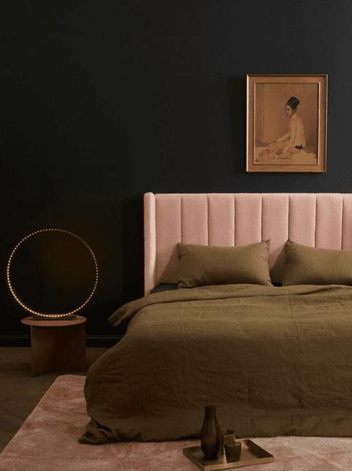 dormitorio sonrojado y negro