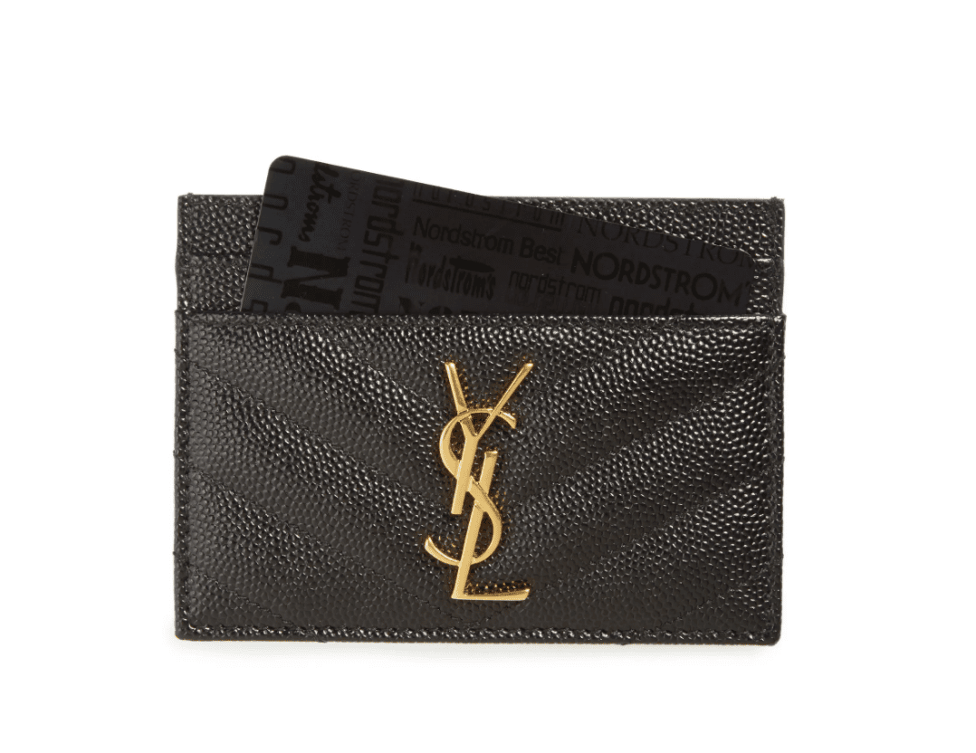 Monogram Quilted Leather Credit Card Case