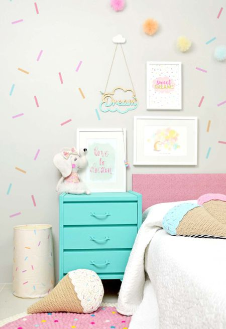 Sweet Treat Themed S Room With Washi Tape Wall Decor