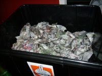 Plastic vermicompost bin