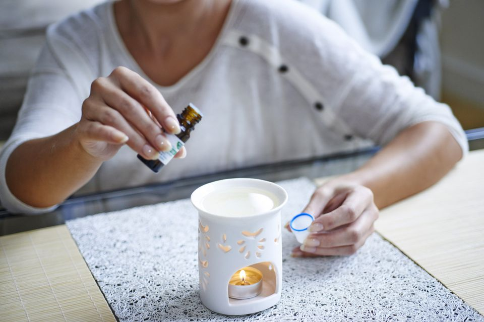 essential oil in a diffuser