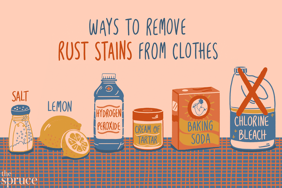 Ways to Remove Rust Stains From Clothes