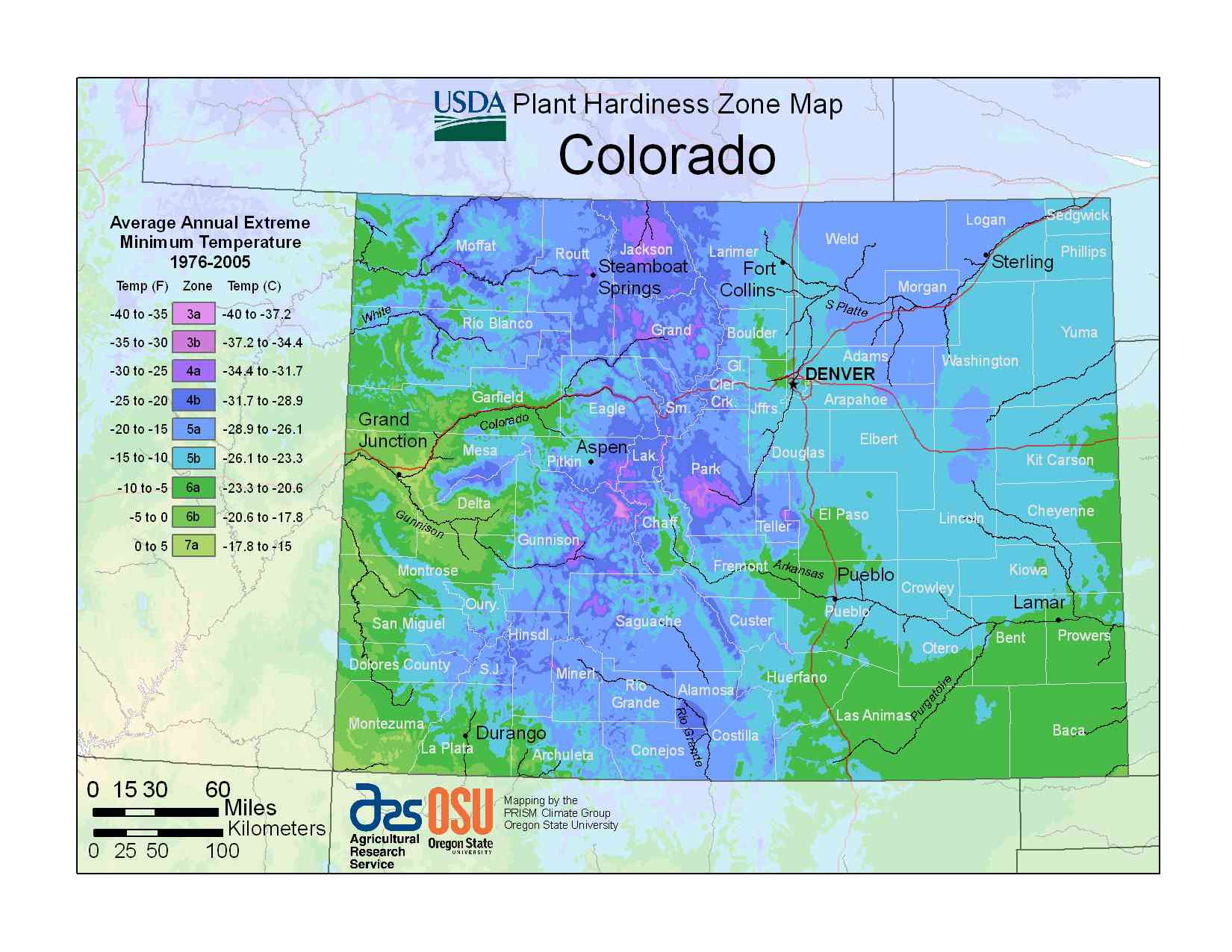 Photo of the Colorado Hardiness Zones