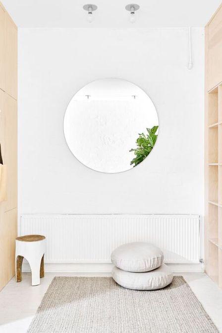Decoración de espejo minimalista