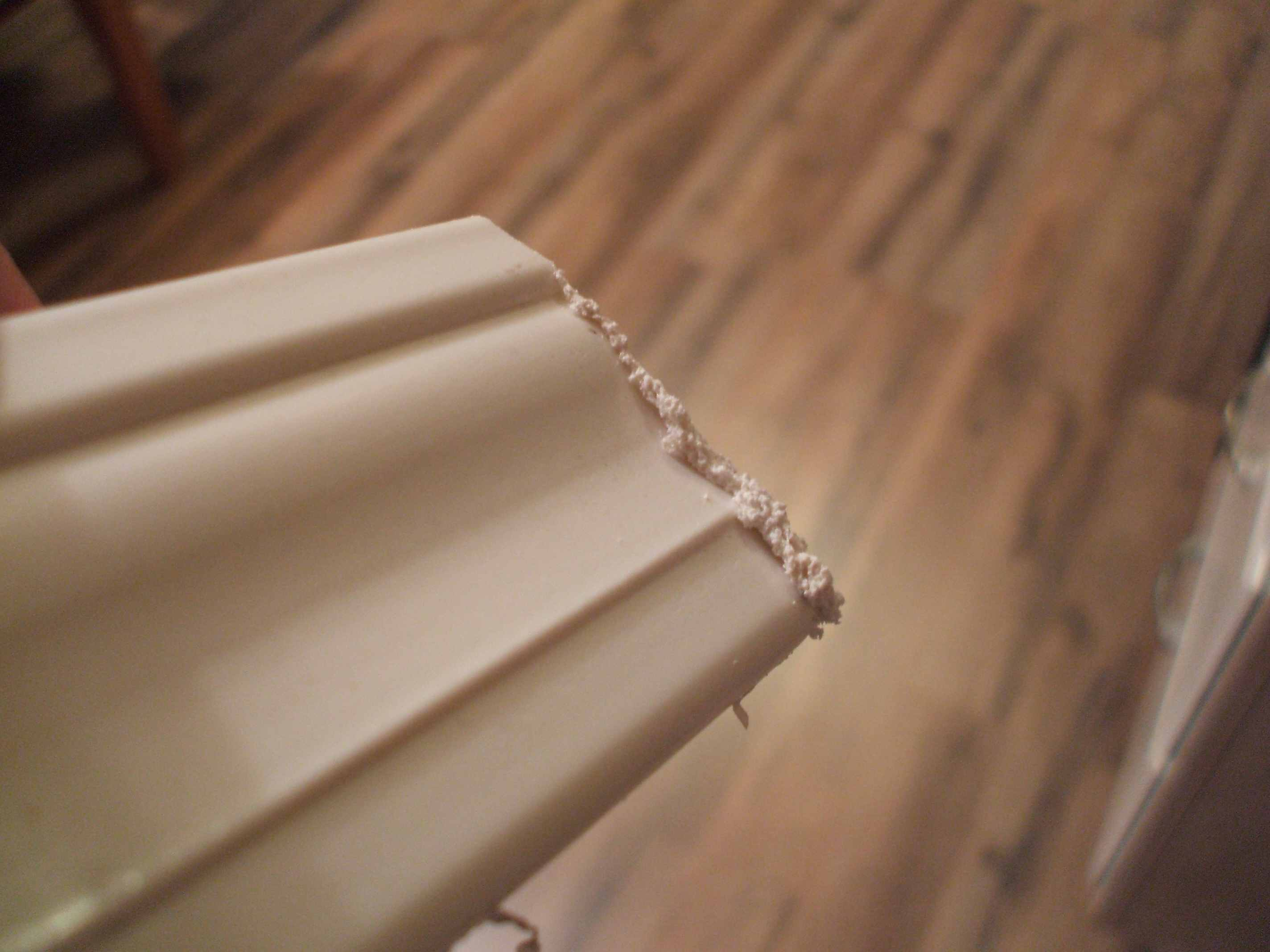Remove Melted Plastic from Baseboard