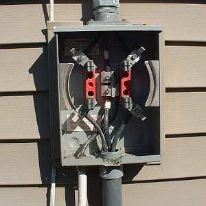 connect the feeder wires  electric meter wired