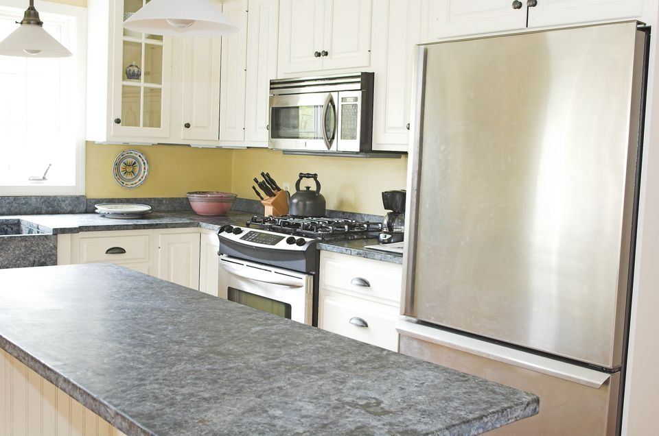 slate countertops in a kitchen