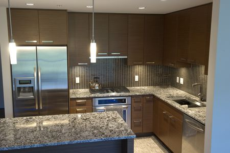 Large Kitchen With Island Granite Countertops