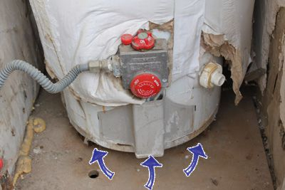 Water heater leaking at the tank