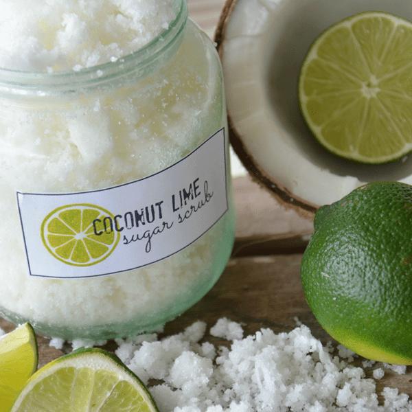 DIY Coconut And Lime Sugar Scrub