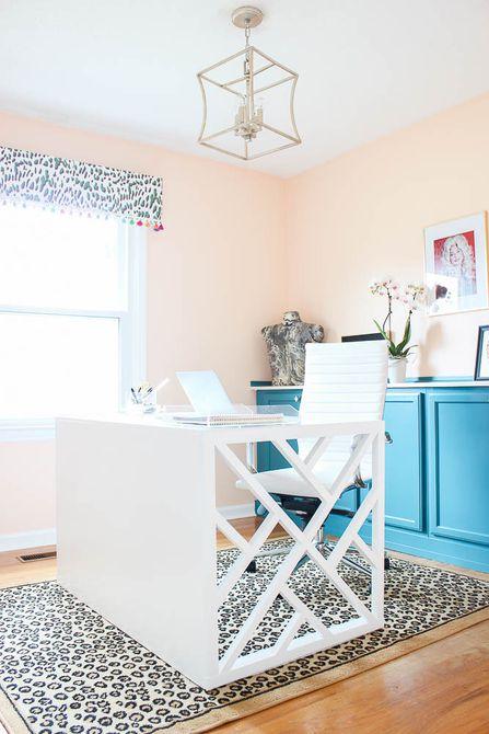 Después - Cambio de imagen colorido de la oficina en el hogar