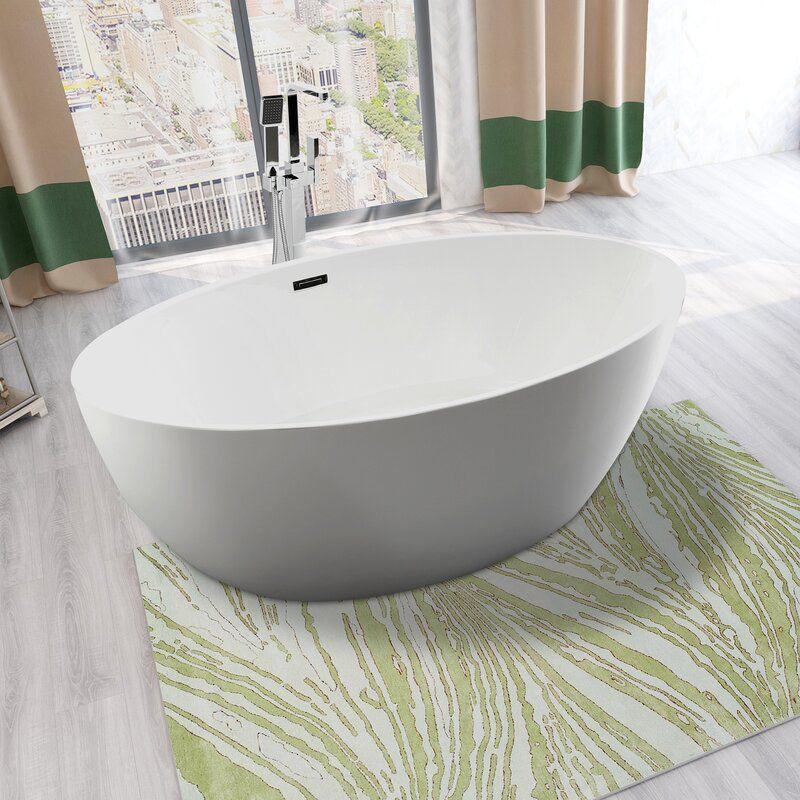 "Vanity Art VA6834-S 55"" Freestanding Soaking Bathtub"