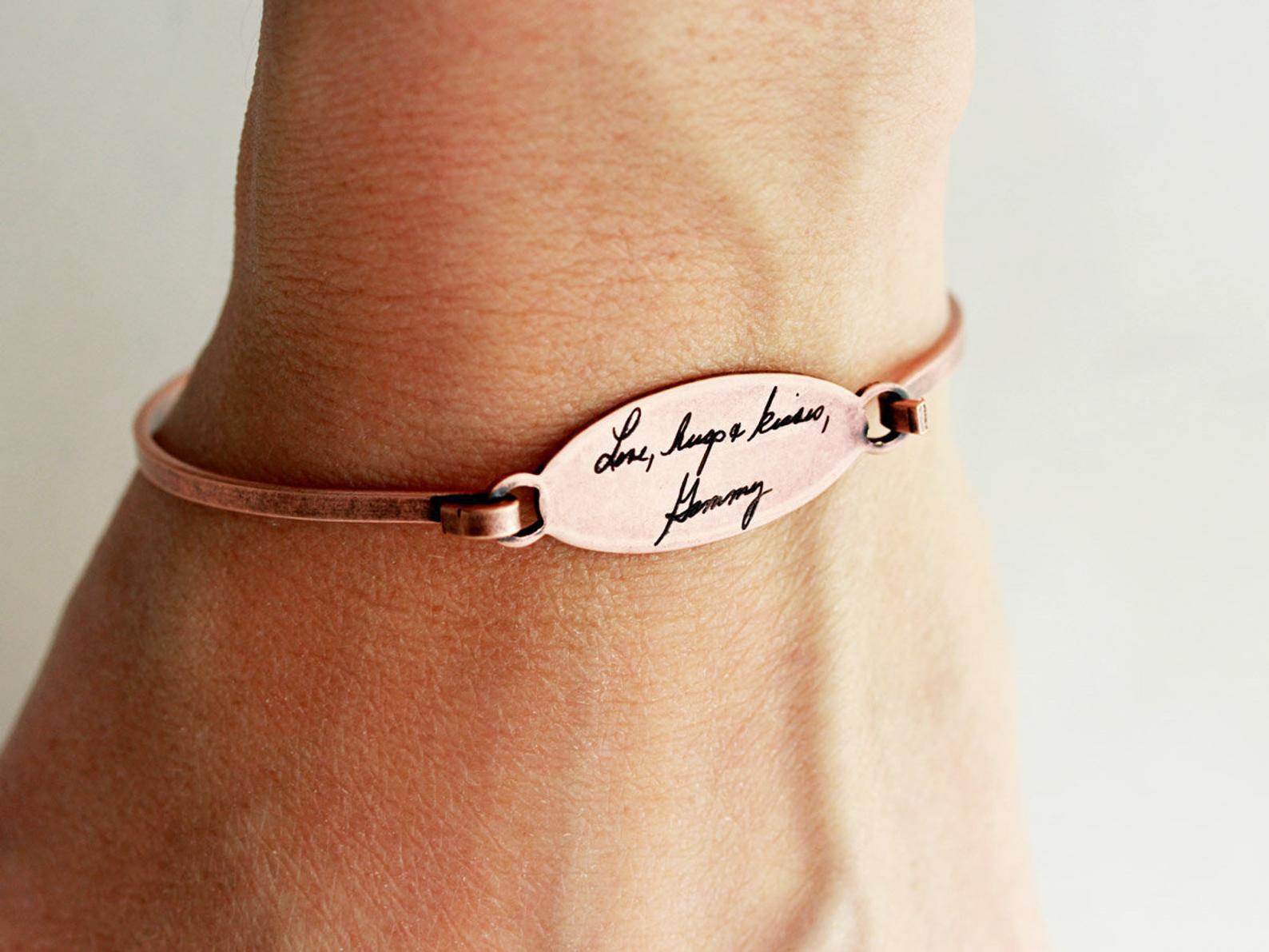 Custom Handwriting Bracelet, Signature Bracelet