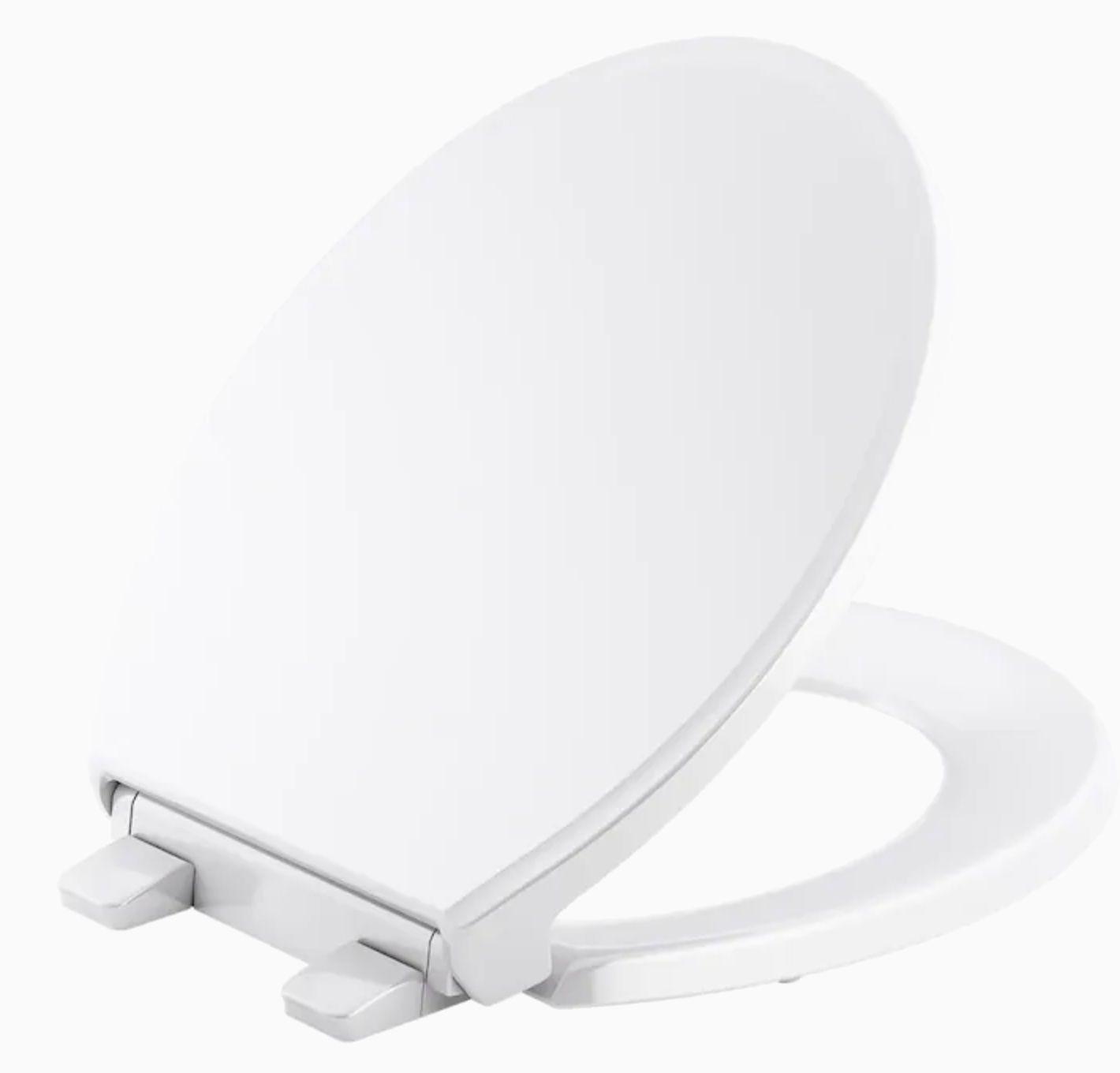 KOHLER Figure White Round Slow-Close Toilet Seat