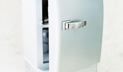 A small refrigerator
