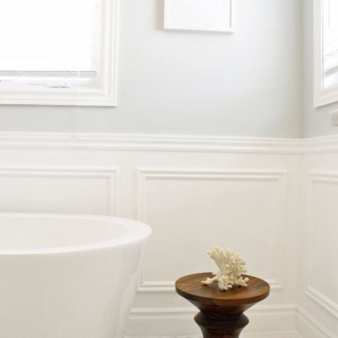 Bathroom with wainscoating