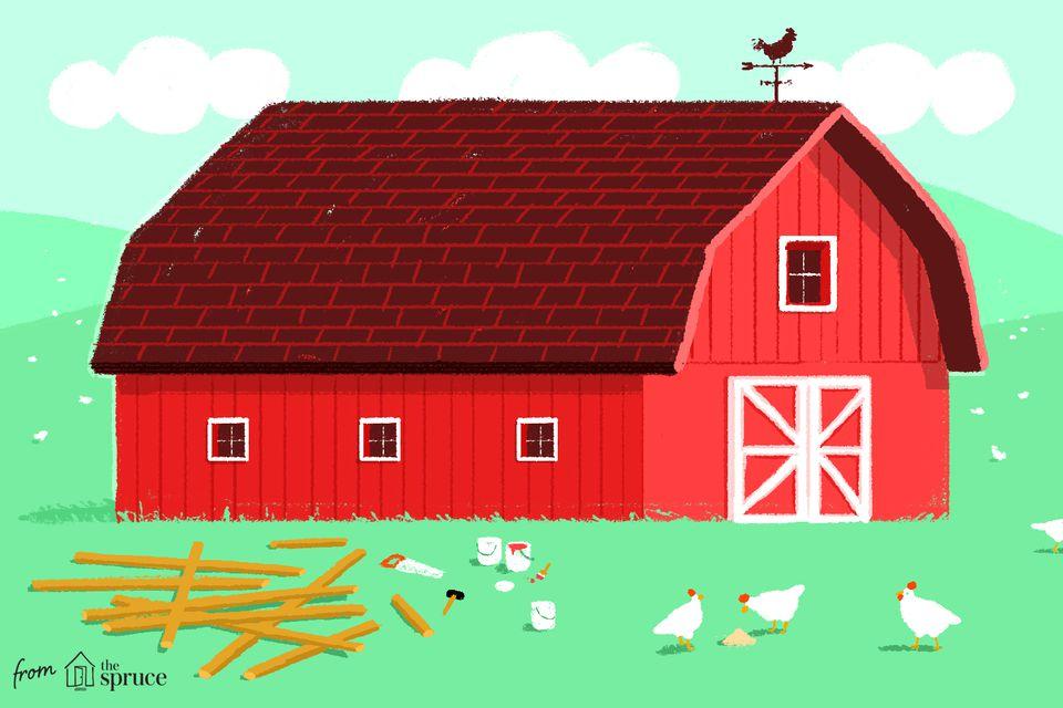 Ilustración de planes de granero gratis