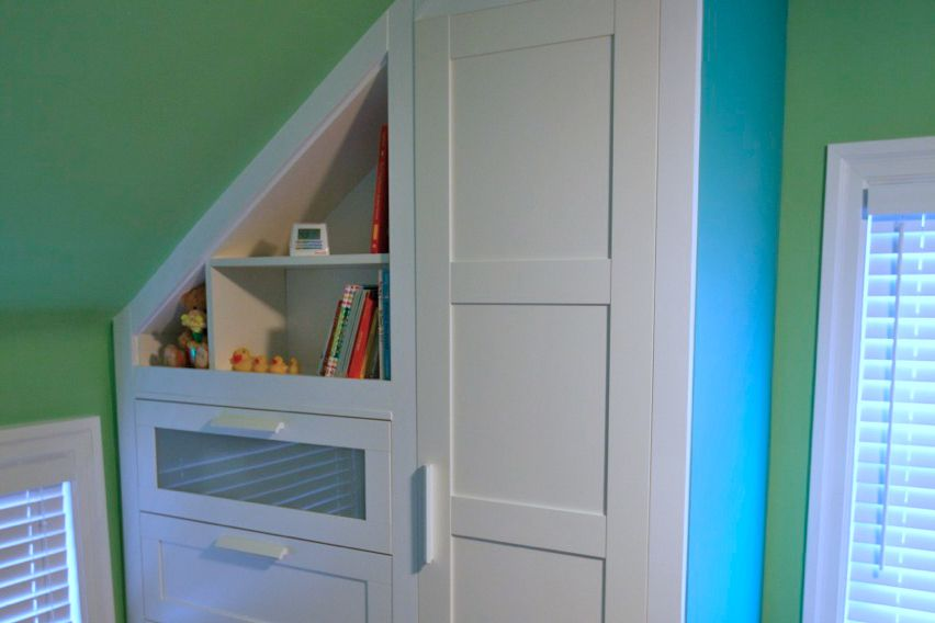 DIY built-in nursery dresser IKEA hack