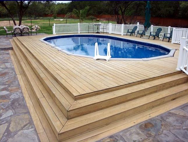 Inspirational Above Ground Pools with Deep End and Deck